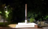 Osvetlitev spomenika v Sežani,delo akademskega slikarja Simona Kastelica