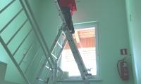Zamenjava zasilne razsvetljave z led zasilno,stanovanjski blok Postojna