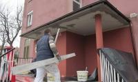 Stanovanjski blok - Sežana,obnova vhoda - priprave